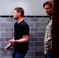 "Dean gettin his groove on while Sam is just like ""Um..what?"""