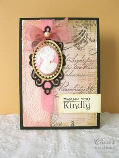 Vintage cameo card by cbuswell - Cards and Paper Crafts at Splitcoaststampers