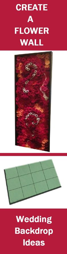 MASSED FLOWER FOAM TILE - Create your own wedding backdrops! Free Flower Tutorials - http://www.wedding-flowers-and-reception-ideas.com/make-your-own-wedding.html