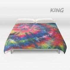 Duvet Cover  Comforter Cover  Tie Dye Bedding  Spiral by LKBcolour, $150.00