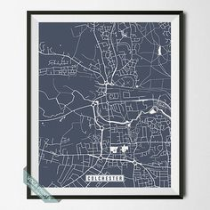 Colchester Print England Poster Colchester Map by VocaPrints