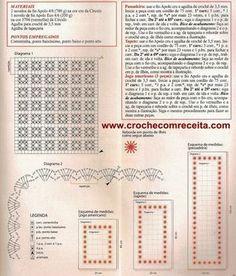 CROCHE COM RECEITA: Tapetes e americanos em crochê com bordado ponto ilhós