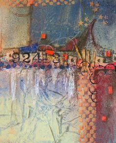 These videos are about an exercise in Layering the mixed media with collage using the tack iron for the collage fusion....