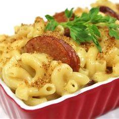 Skillet Mac and Cheese & Kielbasa Recipe