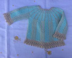 Blog Abuela Encarna: julio 2018 Baby Knitting, Crochet, Sweaters, Blog, Children, Diy, Fashion, Girls, Costume Dress