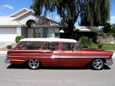 1958 Chevy Wagon Brookwood Looks GOOD, too many of these old rides are being exported across the BIG pond. 1958 Chevy Impala, Chevrolet Impala, Classic Trucks, Classic Cars, Vintage Cars, Antique Cars, Chevrolet Sedan, Beach Wagon, Station Wagon Cars