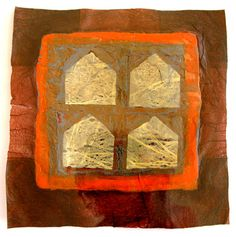 """Saatchi Online Artist Aviva Sawicki; Assemblage / Collage, """"Clouds in the House"""" #art Made from recycled plastic bags."""