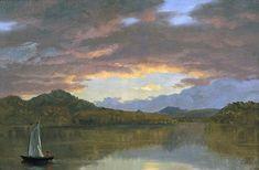 Sunset on Catskill Lake Frederic Edwin Church - 1853