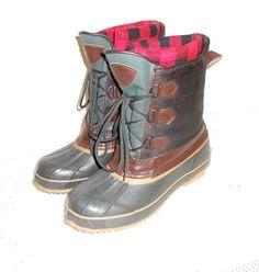 Men's Sport Treds Thermolite Duck Leather & Rubber Boots Steel Shank Size 9 #SportTred #ThermoliteDuckWinterBoot