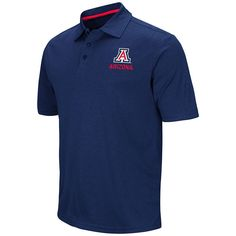 Men's Campus Heritage Arizona Wildcats Heathered Polo, Size: Medium, Blue (Navy)