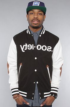 $150 The College Party Jacket in Black by Society Original Products at karmaloop.com -- Use repcode SMARTCANUCKS at the checkout for 20% OFF your purchase on Karmaloop.com