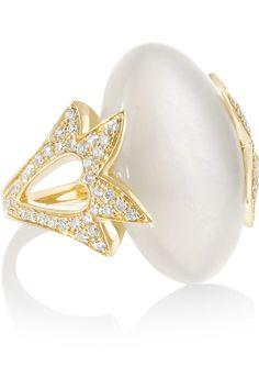 Noor Fares   Amoré 18-karat gold, moonstone and diamond ring (=)