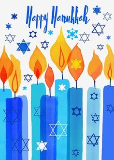 Margaret Berg Art: Hanukkah+Candles - Joleen Home Happy Hanukkah Images, Happy Hannukah, Jewish Hanukkah, Feliz Hanukkah, Hanukkah Crafts, Hanukkah Candles, Hanukkah Decorations, Hanukkah Menorah, Christmas Hanukkah