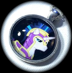 SHINING ARMoR .. My LITTLE PONY .. GLaSS PeNDANT by girlgamegeek, $11.11