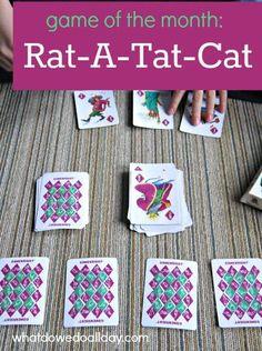 Card game works mental math and memory skills.