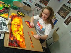 High School Art Lessons | The Skittles Expressive Portrait Project!