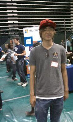 job fair next to the Microsoft stand