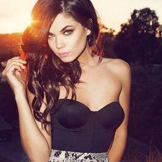 Aarika Wolf - Bing Images Glamour, Girl Next Door, Wolf, Hair Makeup, Camisole Top, Wonder Woman, Superhero, Tank Tops, Sexy