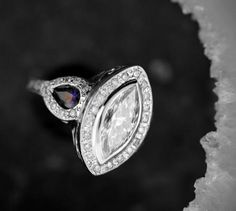 Gorgeous Custom Engagement Ring With Sapphire