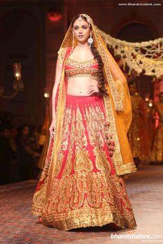 Lengha by Preeti S Kapoor at AVIBFW 2013