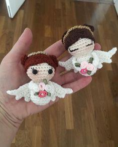 Filet Crochet, Diy Crochet, Crochet Toys, Crochet Angels, Crochet Keychain, Crochet Amigurumi Free Patterns, Crochet Christmas Ornaments, Amigurumi Doll, Crochet Projects