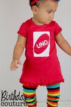 UNO First Birthday Girl Dress in Red - Fun, Unique Outfit for her first birthday - Excellent Photo Prop Birthday Girl Dress, Girl First Birthday, Baby Birthday, 1st Birthday Parties, Birthday Photos, Birthday Ideas, Babies First Year, Inevitable, Future Baby