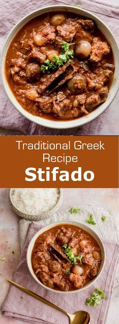 Greece: Stifado Stifádo (στιφάδο) is one of the most emblematic and delicious dishes of Greek cuisine. It can be compared to a French beef bourguignon. Greek Cooking, Slow Cooking, Cooking Recipes, Healthy Recipes, Fast Recipes, Healthy Food, Beef Stifado Recipes, Stewing Beef Recipes, Ancient Greek Food