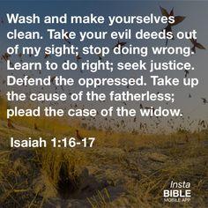 Isaiah 1:16-17