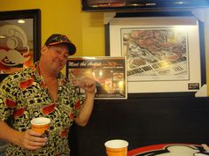 """Unveiling of """"Clean Sweep"""" by Jonathan W. Brown in the Natty Boh Bar, Orioles Park at Camden Yards, Baltimore"""