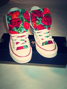 Hey, I found this really awesome Etsy listing at https://www.etsy.com/listing/153483782/floral-converse-shoes