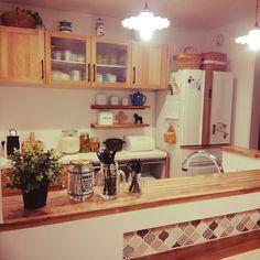 Kitchen/ダーラナホース/カップボード/オーク/冷蔵庫リメイク/ウッドワン...などのインテリア実例 - 2016-11-17 12:44:54