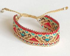 Bead Embroidery Jewelry, Beaded Embroidery, Peyote Stitch, Bracelet Patterns, Beaded Bracelets, Beads, Handmade, Loom, Design