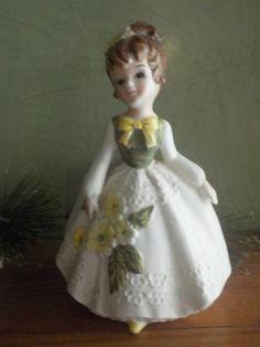 Vintage lady figurine planter Lefton?