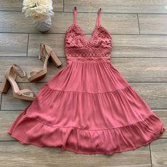 """✨shopdressygirl.com✨ on Instagram: """"NEW 🌸 LAUREN Crochet Dress (Marsala) just added ~All Orders Ship FREE~ Tap on pic to Order ~  ❤️SHOPDRESSYGIRL.com"""""""