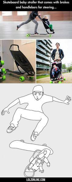 Skateboard Baby Roller...