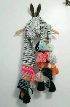 "Anthropologie ""Rainbow Tassel Scarf"""