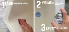 one room challenge {laundry room} week three - How to Paint a Plastic Sink from Sproutz Design