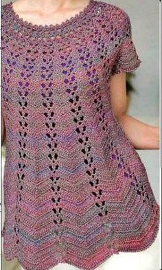 Fazendo Crochê com a Rita: Blusa Mesclada