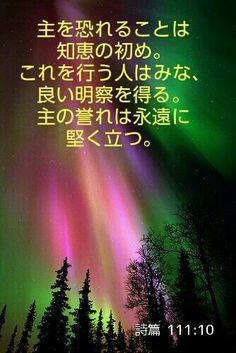 詩編 詩篇 111:10 JA1955  主を恐れることは知恵のはじめである。これを行う者はみな良き悟りを得る。主の誉は、とこしえに、うせることはない。