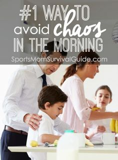Mornings can be hectic, let's be honest!  It's inevitable that someone either woke up late, forgot to do their homework, or can't find their shoes.   Find out what the #1 way to avoid chaos in the morning!