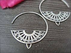 Earrings | Melissa of Siren Jewels. Sterling silver.