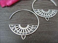 Earrings | Melissa of Siren Jewels.  Sterling silver.