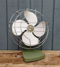 Vintage Fan - Vintage Green Fan - Superior Electric Fan - Industrial Decor by theindustrycottage on Etsy