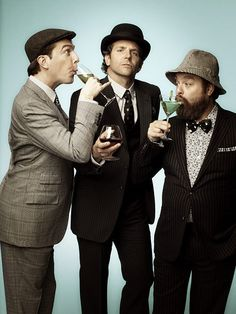 The Hangover guys- Ed Helms, Bradley Cooper, Zach Galifianakis Bradley Cooper, Zach Galifianakis, Ed Helms, Photo Vintage, Classy Men, Stay Classy, Chef D Oeuvre, Mae West, Gene Kelly