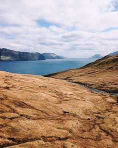 The Faroe islands seems like a nice place to snap some beautiful pictures. Love how the color of the water contrasts so nicely with the soil/grass.