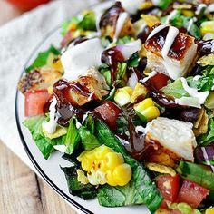BBQ Chicken Chopped Salad. #lunch #salad #fitnessmagazine