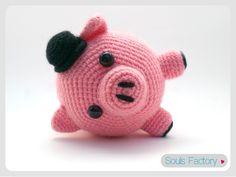 Tutorial Amigurumi Cerdito : Cerdo patrón amigurumi cerdito animal bebe por amigurumeria en