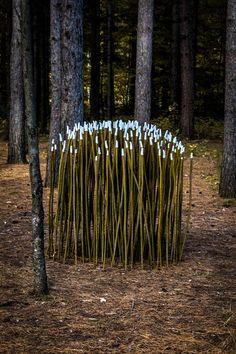 'Hotei and the watchers', 2012 - Olga Ziemska | Créations-sur-le-champ, Land art Mont-Saint-Hilaire 2012 - 6e édition.