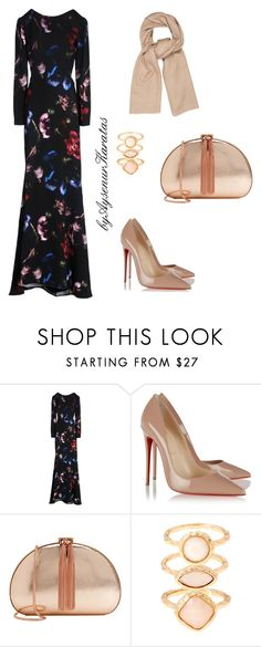 Fashion by aysenur-karatas on Polyvore featuring moda, Elie Saab, Christian Louboutin, Ted Baker, Monsoon and Denis Colomb