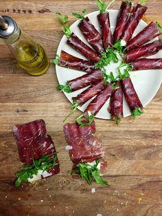 Bresaola, rocket (arugula) and Parmesan cicheti | italy on my mind